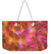 Pink Swirl Waves Weekender Tote Bag