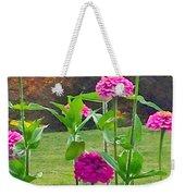 Pink Tall Zinnia's Weekender Tote Bag
