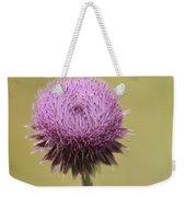 Pink Thistle Weekender Tote Bag