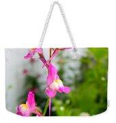 Pink Toadflax Weekender Tote Bag