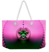 Pink Topaz And Emerald Green Necklace Fractal Weekender Tote Bag