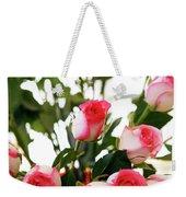 Pink Trimmed Roses Weekender Tote Bag