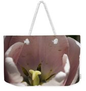Pink Tulip Center Squared Weekender Tote Bag
