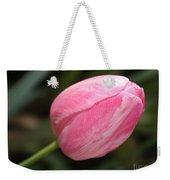 Pink Tulip Closeup Weekender Tote Bag