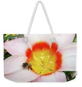 Pink Tulip Flower Orange Art Prints Honey Bee Baslee Troutman Weekender Tote Bag