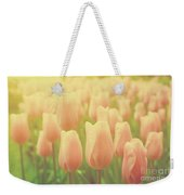 Pink Tulip Flowers In The Garden On Sunny Day In Spring Weekender Tote Bag