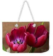 Pink Tulip Pair Weekender Tote Bag
