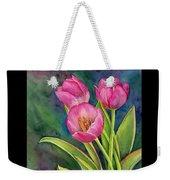 Pink Tulip Twist Weekender Tote Bag