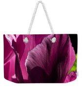 Pink Tulip Watercolor Weekender Tote Bag