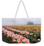 Pink Tulips And Tractor Weekender Tote Bag