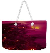 Pink Volcano Sunrise Weekender Tote Bag