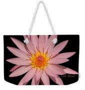 Pink Water Lily Transparent Weekender Tote Bag