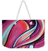 Pink Wave Of Energy. Abstract Vision Weekender Tote Bag
