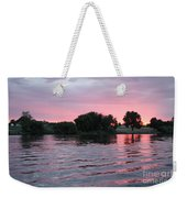 Pink Waves Sunset Weekender Tote Bag