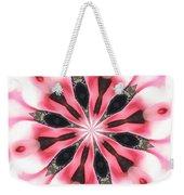 Pink White Petals Weekender Tote Bag