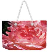 Pink White Roses Floral Art Prints Rose Baslee Troutman Weekender Tote Bag