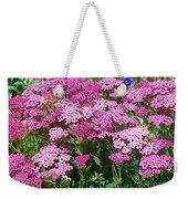 Pink Yarrows Weekender Tote Bag