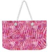 Pink Zebra Print Weekender Tote Bag