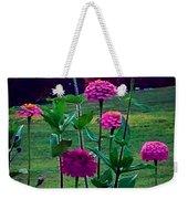 Pink Zinnia's Weekender Tote Bag