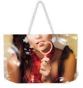 Pinup Girl Blowing Love Kiss. American Retro Style Weekender Tote Bag