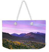 Pioneer Mountain Sunset Weekender Tote Bag