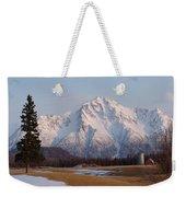 Pioneer Peak Alaska Weekender Tote Bag