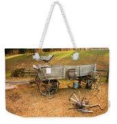 Pioneer Wagon And Broken Wheel Weekender Tote Bag
