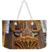 Pipe Organ In Strasbourg Cathedral Weekender Tote Bag