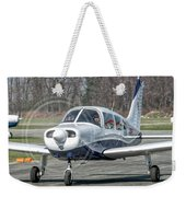Piper Pa28 I-cnpg Taxiing To The Runway Weekender Tote Bag