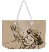 Pirate And Parrot Weekender Tote Bag