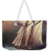 Pirate Schooner In Stormy Sea by A Prints