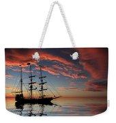 Pirate Ship At Sunset Weekender Tote Bag