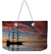 Pirate Ship At Sunset Weekender Tote Bag