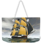 Pirate Ship On The High Seas Weekender Tote Bag