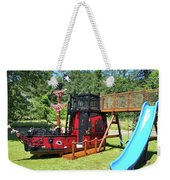 Pirate Ship Playhouse Wood Pirate Ship Playhouses Weekender Tote Bag