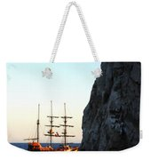 Pirate Ship Sunset Sea Of Cortez Cabo Weekender Tote Bag
