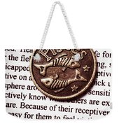 Pisces In A Sea Of Text Weekender Tote Bag