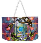 Pisces With Six Fence Lotus Weekender Tote Bag