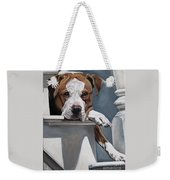 Pitbull Stare Weekender Tote Bag