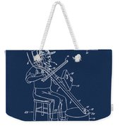 Pitch Fork Fiddle And Drum Patent 1936 - Blue Weekender Tote Bag