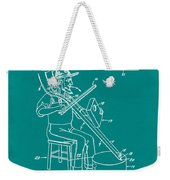 Pitch Fork Fiddle And Drum Patent 1936 - Green Weekender Tote Bag