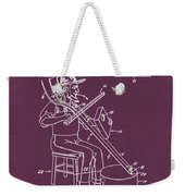 Pitch Fork Fiddle And Drum Patent 1936 - Red Weekender Tote Bag
