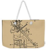 Pitch Fork Fiddle And Drum Patent 1936 - Sepia Weekender Tote Bag
