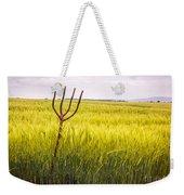Pitch Fork In Wheat Field Weekender Tote Bag