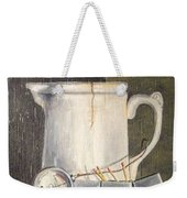 Pitcher, Meter And Matches Still Life Weekender Tote Bag