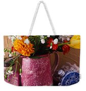 Pitcher Of Flowers Still Life Weekender Tote Bag