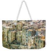 Pitigliano Houses Closeup Grosseto Tuscany Weekender Tote Bag