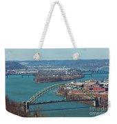 Pittsburg City Skyline Weekender Tote Bag
