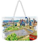 Pittsburgh Aerial View Weekender Tote Bag