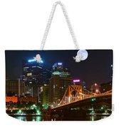 Pittsburgh Full Moon Panoramic Weekender Tote Bag
